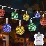 Zorara Catena Luminosa Con Telecomando, 40 LED 5M Led Luci Stringa Esterno Colorato 8 Modalità Flash Per Natale, Anno Nuovo, Matrimonio, Lucine Decorative[Classe di efficienza energetica A+++]