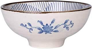 Home big wrist Bowls Dishware Soup Bowl, Japanese Creative Glaze Color Hand-painted Ceramic Rice Bowl Home Salad Bowl Fruit Bowl Snack Bowl for Kitchen Restaurant Tableware, 125.3cm Various Patterns