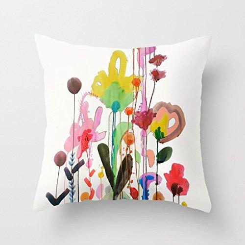 N\A Viva La Vida Kissenbezug Quadratische weiche Baumwolle Leinwand Home Dekorative Kissenbezug für Sofa und Bett One Side Print