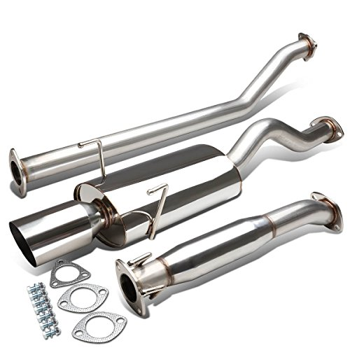 For Acura RSX Type-S Stianless Steel 4 inches Tip Oval Muffler Catback Exhaust System