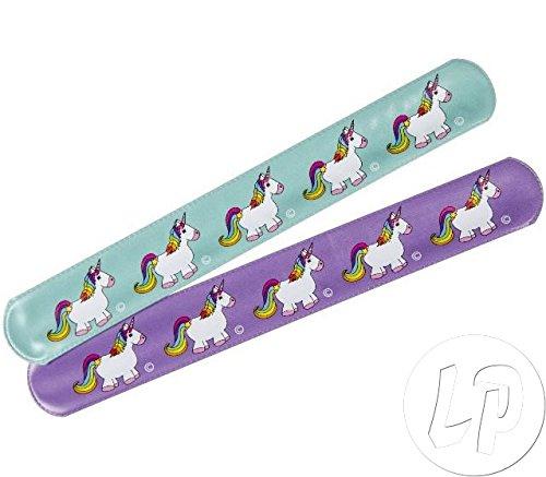 6 braccialetto CLAP Unicorno 22 Cm Regolabile Gioielli Fantasia
