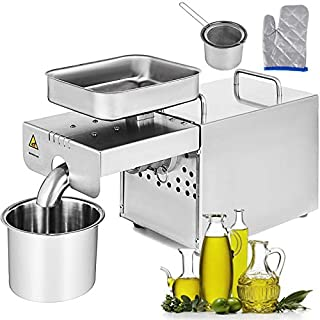 Happybuy Oil Press Machine 750W Cold / Hot Press Automatic Oil Extractor Organic Oil Expeller Commercial Grade Stainless Steel Oil Press Machine (B01M745W6D) | Amazon price tracker / tracking, Amazon price history charts, Amazon price watches, Amazon price drop alerts