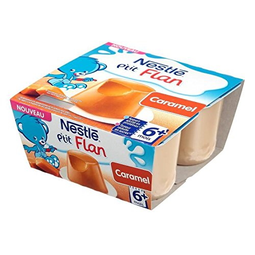 NESTLÉ P'tit flan au caramel - 4x100 g - Des 6 mois