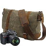 Neue Version-Gute Qualität--90 Tage Garantie-Vintage Wasserdicht Kameratasche Fototasche für DSLR