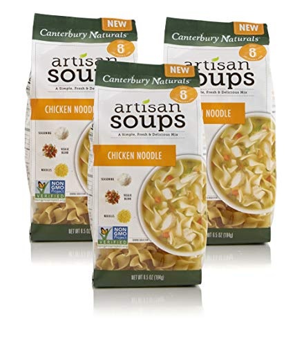 Canterbury Naturals Artisan Soup Mix, Chicken Noodle Soup, 6.5 Ounce, Pack of 3