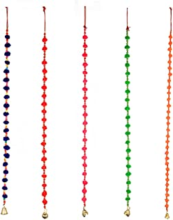 Aditri Creation Pom Pom String Set of 5 (Multi Color)