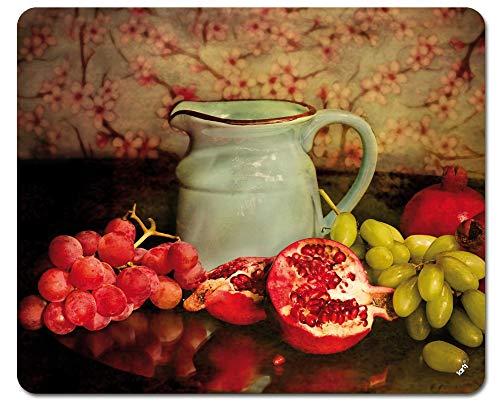1art1 Stillleben - Krug mit Granatäpfeln und Trauben, Fotografie Mauspad 23 x 19 cm