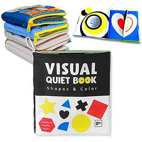 Richgv Libro Activity bebé Juguetes educativos Libros Blandos para Bebé, Libro de Tela Bebé Aprendizaje y Educativo Libro para Bebé Recién Nacido Niños(Forma)