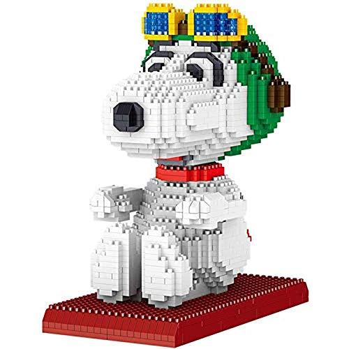 Nwihac Mini Dog Building Pet Construction Toys Building Blocks, Snoopy 3D Puzzle Model Gifts, Adecuado para niños, niños y Adultos, G.