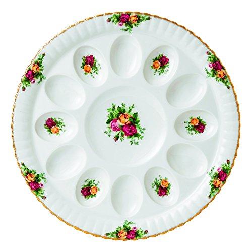 Royal Albert Old Country Roses Deviled Egg Dish, 11.5'