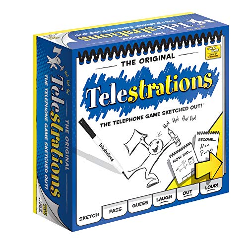 USAOPOLY Telestrations Original 8 Player | Family Board Game | A Fun Family Game for Kids and Adults | Family Game Night Just Got Better | The Telephone Game Sketched Out
