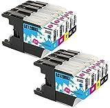 INK INSPIRATION Sostituzione per Brother LC1280XL LC1240XL 10 Cartucce d'inchiostro Compatibile con Brother MFC-J430W MFC-J5910DW MFC-J6510DW MFC-J6910DW MFC-J825DW DCP-J925DW DCP-J725DW DCP-J525W