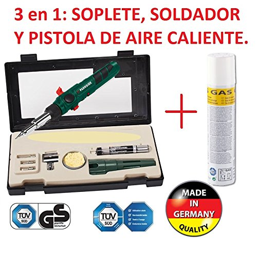 SOLDADOR A GAS PROFESIONAL RECARGABLE 3/1 SOLDAR