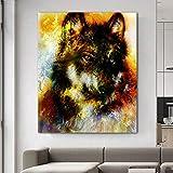 yaoxingfu Sin Marco Wolf Animal Pictures Canvas ng Modern Decoration Wall Art Picture para Sala de Estar Dormitorio Estudio SIN Marco 30x45cm