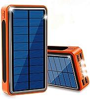 ソーラー充電器 モバイルバッテリー 超大容量 40000mAh QuickCharge ソーラーチャージャー 急速充電 充電バッテリー 携帯充電器 ソーラーパネル IPX6防水 LEDライト 4台同時充電 スマホ 太陽エネルギーパネル...