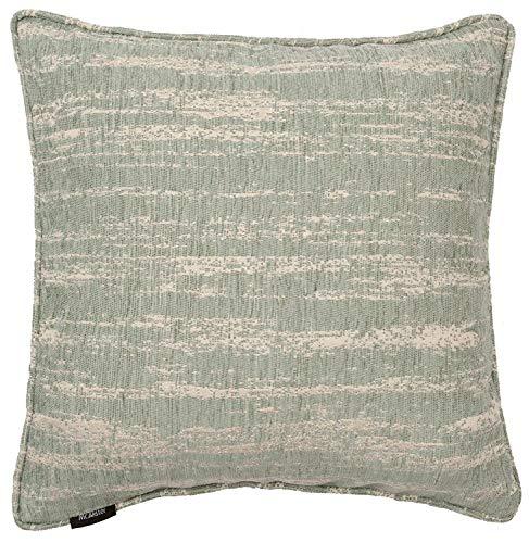 McAlister Textiles Getextureerde Chenille Square Scatter Kussensloop   Ontwerper Luxe Funky Marokkaanse Gedessineerde Metallic Gestreepte Ei Blauw   43cm 17