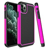 Venoro iPhone 11 Pro Case, Slim Hybrid Dual Layer Anti Scratch Shockproof Rugged Phone Protection Case Cover for Apple iPhone 11 Pro 2019 5.8inch (Pink)