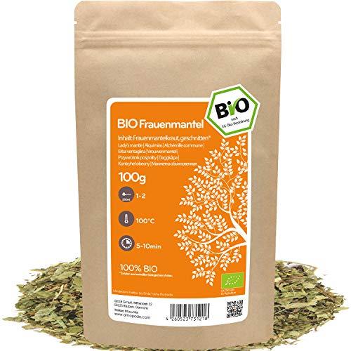 amapodo Bio Frauenmantel Tee lose 100g Frauenmantelkraut geschnitten für Frauenmanteltee