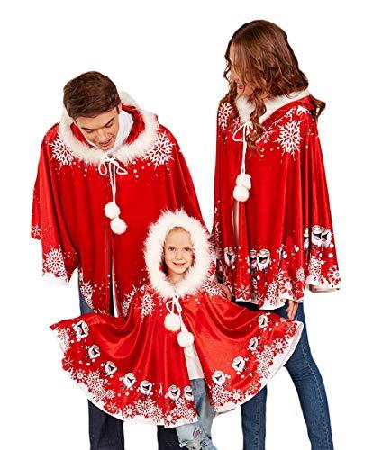 Pashmina peleryna szal z kapturem kobiety mężczyźni Boże Narodzenie unikalne ponczo festiwal Boże Narodzenie kostium kostiumy kostium zima odzież impreza retro wyprzedaż dzieci