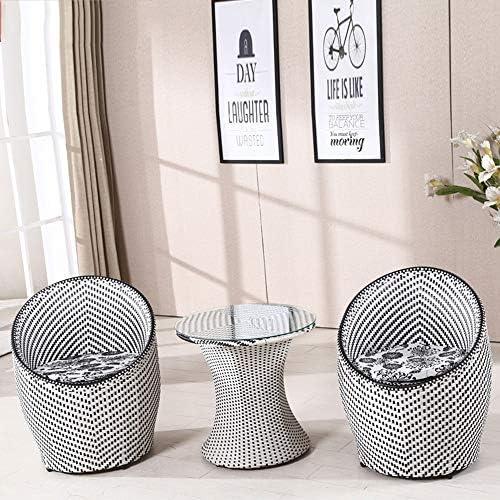 Balkon Im Freien Tischstuhl Vogelnest Teetisch Drei Sätze Von Modernem Einfachen M ln Kombination Freizeit Rattan Hotelstuhl Weiß