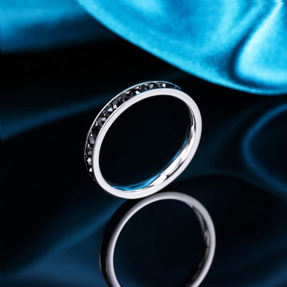 INBLUE Personalisierte Versprechen Ringe Gravur Name Datum Benutzerdefinierte Ringe f/ür Frauen M/ädchen Beste Freundin Muttertag Edelstahl Ewigkeit Ehering Ring Schmuck