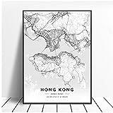 zhaoyangeng Künstlerische Leinwand Karte Poster | Hong