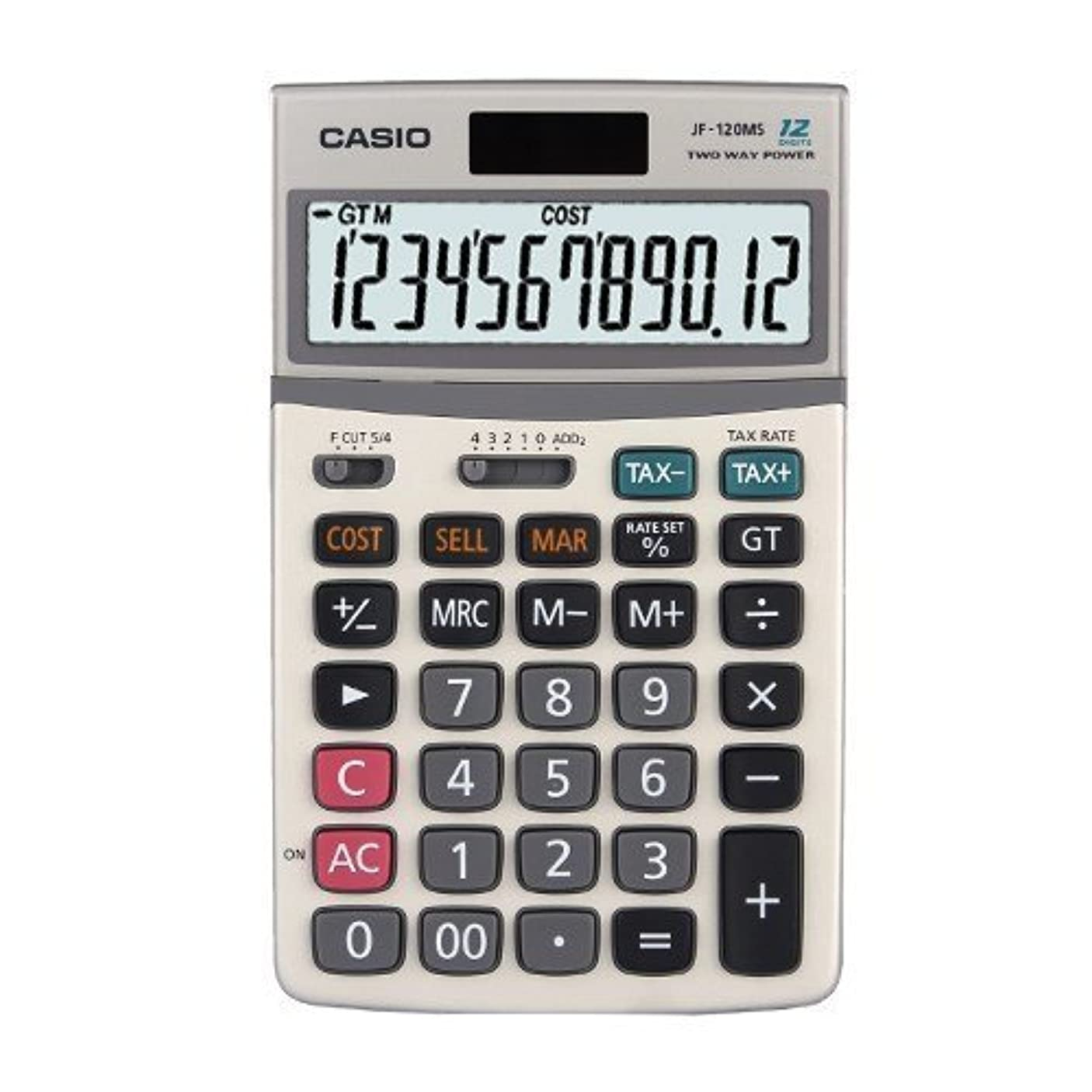 デュアル考慮薬用Casio JF-120MS 電卓税計算と金属カバー付き JF120MS [並行輸入品]