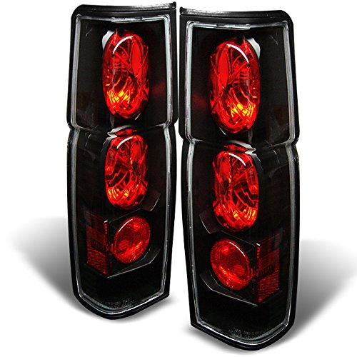 For 1986-1997 Nissan Hardbody D21 Pickup Truck Black Tail Brake Lights Lamp Left +