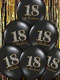 Ballon de baudruche pour anniversaire des 18 ans, noir