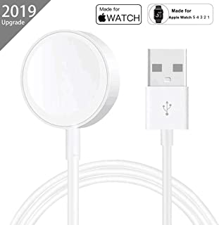 AICase iWatch Charger,Magnetic Watch Wireless Charger iWatch Charging Cable for Apple Watch Series1/2/3/4/5,38mm,40mm,42mm,44mm (3M)