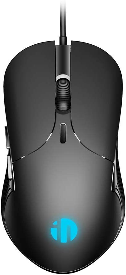 Wired PC Mouse, Inphic USB Wired Mouse 4800DPI Adjustable & 6 Programmable Buttons, Silent Click, Optical Tracking, Ergonomic, Streamlined Mouse for PC Laptop Computer Working and Gaming