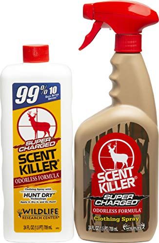 Scent Killer 559 Wildlife Research Super Charged Spray 24 24 Combo, 48 oz.