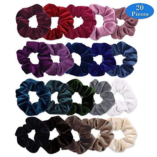 Cintas para Pelo,Colorful Velvet Hair Scrunchies, Scrunchies de Terciopelo Pelo Bandas...