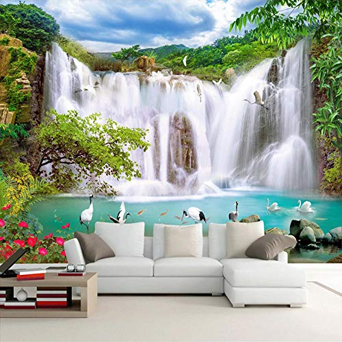 XIAOHUKK 3D self-Adhesive Wallpaper Large Mural Wallpaper Waterfall Landscape Wall Painting Home Decoration self-Adhesive Modern Home Decoration Living Room Dining Room Bedroom Office