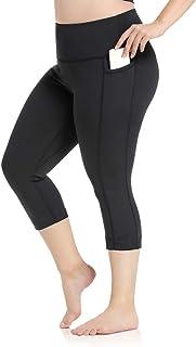 YOHOYOHA Plus Size Leggings High Waist Athletic Workout Yoga Pants Pockets Women's Tummy Control Best Thick Long
