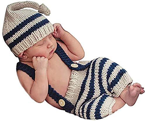 Matissa Häkel-Kostüm für Neugeborene, für Fotografie, Hüte (4)