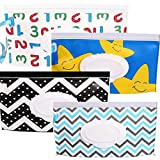 4 Packs Of Portable Wet Tissue Bag Dispensers, Reusable Baby Diaper Disposal Bags To keep Wet Tissues Moist,Reusable Travel Wipes Case
