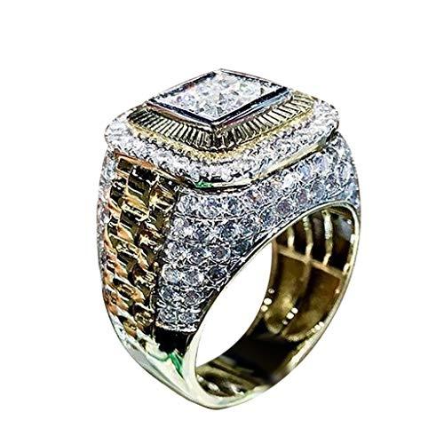 UINGKID Ring Einfach Herrlich großzügig Kreativ Diamant Zirkon Männer und Frauen Ring Zubehör Schmuck