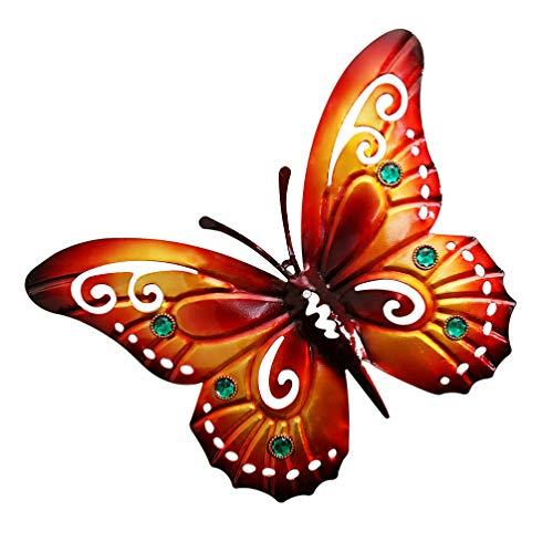 Hemoton Metall Schmetterling Wanddekoration Eisen Kunst Vintage Wandskulptur Dekofigur Garten Innenräume Wohnzimmer Schlafzimmer Küche Außenbereich Gartenzaun Hof Skulptur Dekoration
