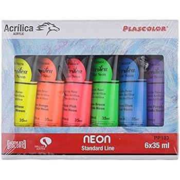 Plascolor PP183 - Pack de 6 tubos de pintura acrílica, multicolor ...