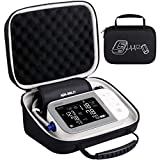 BOVKE Carrying Case Travel Bag for Omron 10 Series BP5450 Platinum Blood Pressure Monitor Premium Upper Arm Cuff Digital Bluetooth Blood Pressure Machine, (Black + Inside Gray)