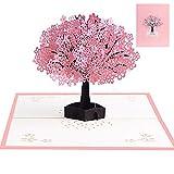 Pop Up 3D Karte Grußkarte mit Umschlag (Baum)
