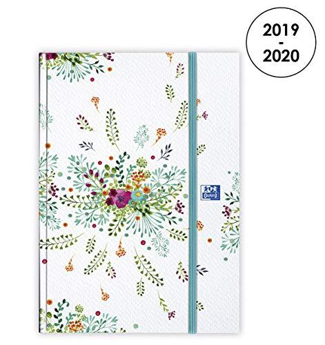 Kwiaty Oxford 2019-2020 od sierpnia do sierpnia 1 dzień na stronę dziennik 15 x 21 cm beżowy