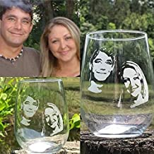 photo engraved whiskey glass