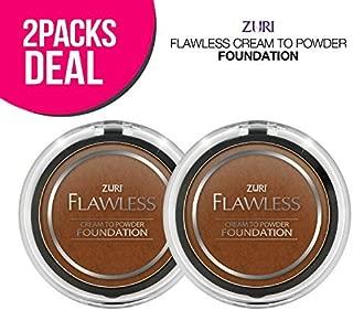 Zuri Flawless Cream to Powder Foundation - Espresso (Pack of 2)