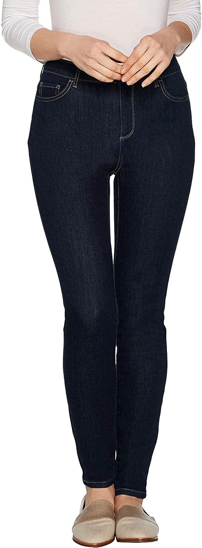 LOGO by LORI GOLDSTEIN Womens Plus Stretch Skinny Jeans 18 Deep Sea A297094