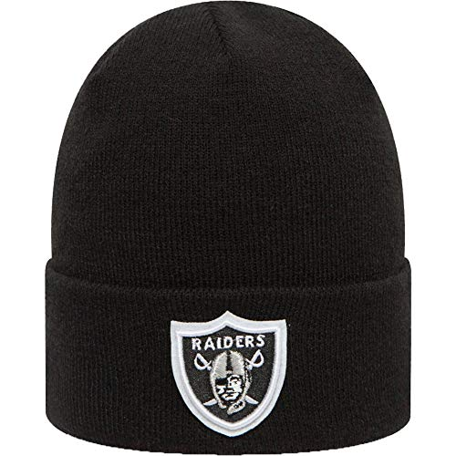 New Era Herren Team Essential Cuff Mütze Oakland Raiders, Negro, One Size