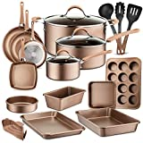 20-Piece Nonstick Kitchen Cookware Set - PTFE/PFOA/PFOS-Free Heat Resistant Lacquer Kitchen Ware...