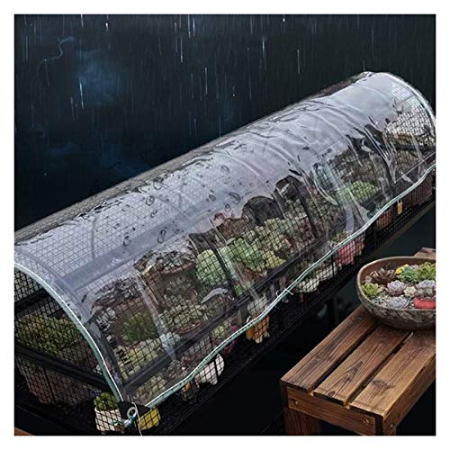 Tarps Glass Clear Tarpaulin Waterproof Heavy Duty With Metal Buttonhole 0.3mm Thicken PVC Windshield Plastic Rain Curtain, For Greenhouse And Terrace, 45 Sizes ( Color : Clear , Size : 3.0X9.0M )