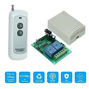 OWSOO-Mdulo-de-Receptor-de-Interruptor-de-Control-Remoto-Inalmbrico-Universal-433MHz-DC-12V-2CH-10A-Rel-y-1PCS-2-Claves-RF-433MHz-Transmisor-Mando-a-Distancia-1527-Chip